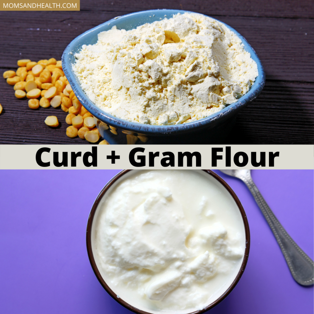Curd and Gram Flour Face Pack
