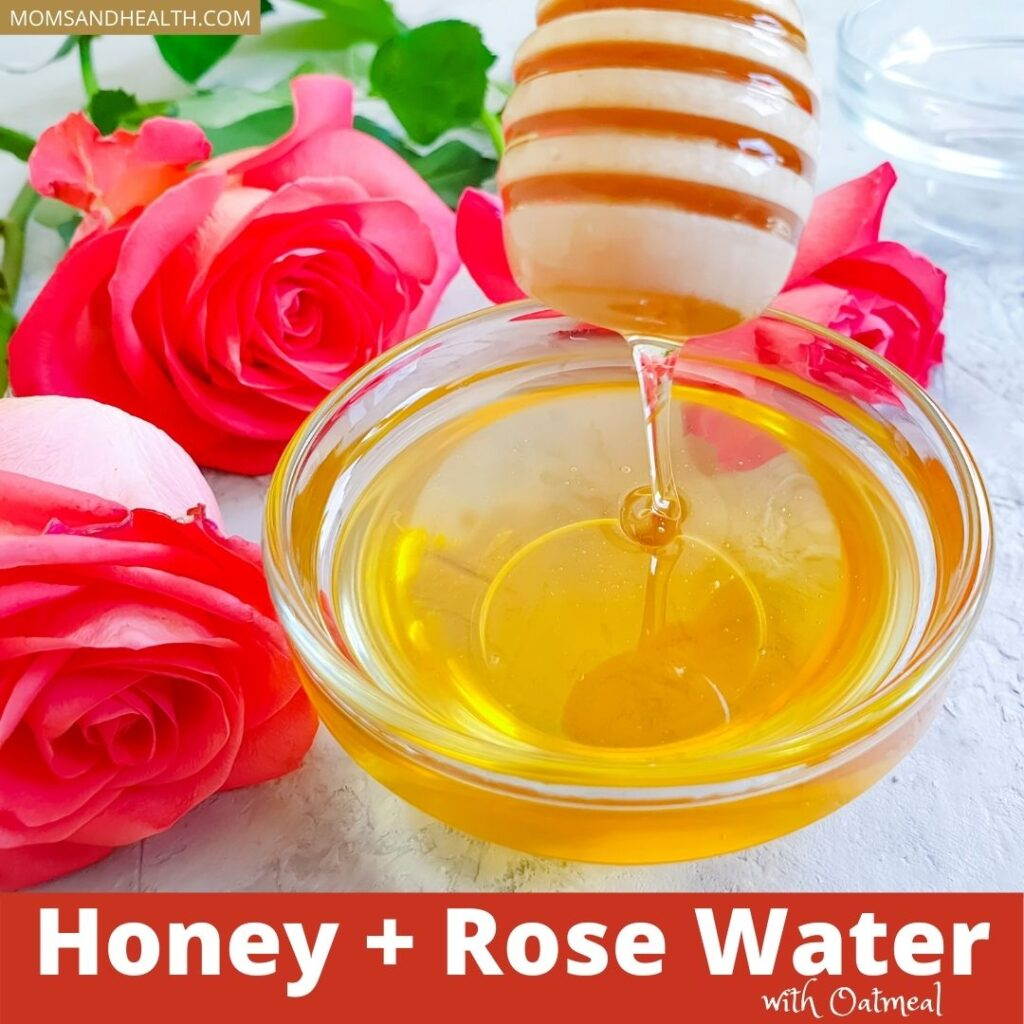 Oatmeal with Honey and Rose Water Face Pack